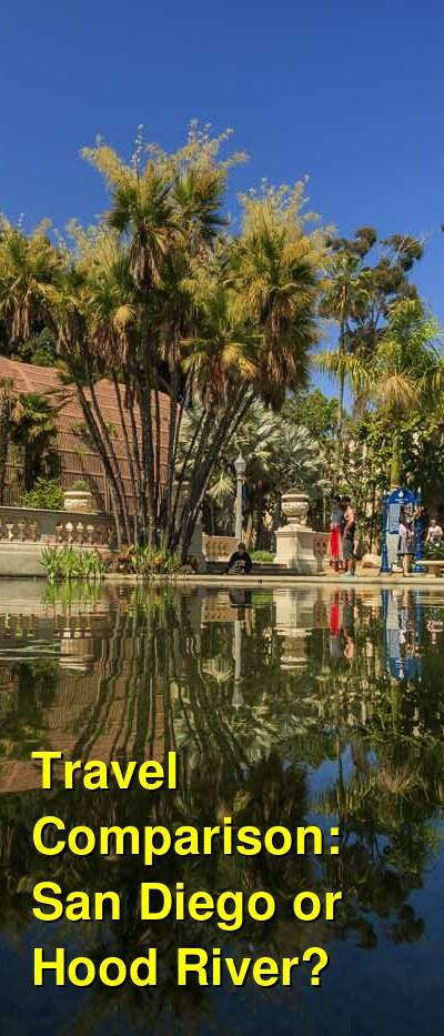 San Diego vs. Hood River Travel Comparison