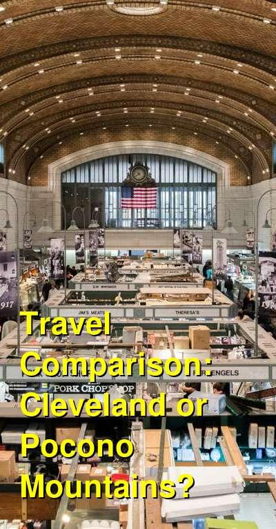 Cleveland vs. Pocono Mountains Travel Comparison
