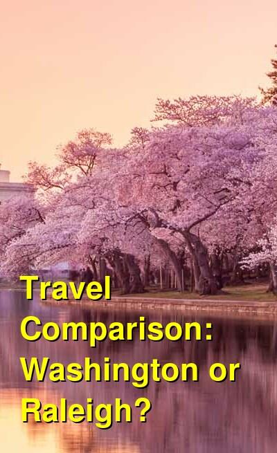 Washington vs. Raleigh Travel Comparison