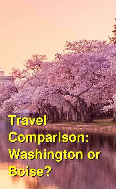 Washington vs. Boise Travel Comparison