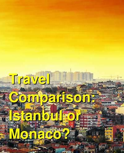 Istanbul vs. Monaco Travel Comparison