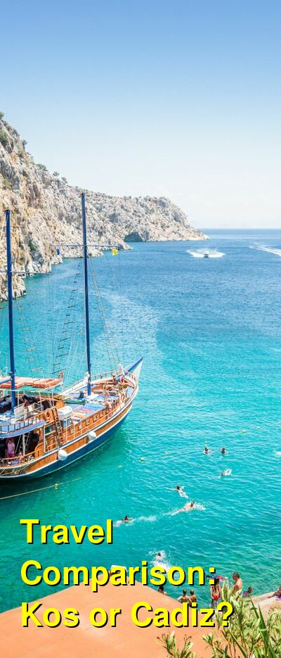 Kos vs. Cadiz Travel Comparison