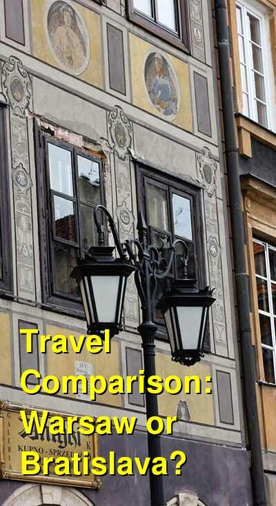 Warsaw vs. Bratislava Travel Comparison