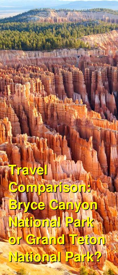 Bryce Canyon National Park vs. Grand Teton National Park Travel Comparison
