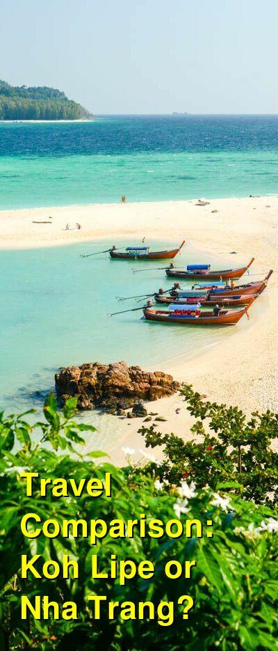 Koh Lipe vs. Nha Trang Travel Comparison
