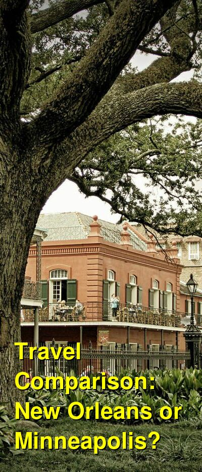 New Orleans vs. Minneapolis Travel Comparison