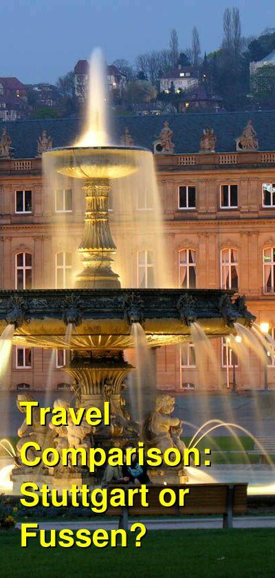 Stuttgart vs. Fussen Travel Comparison