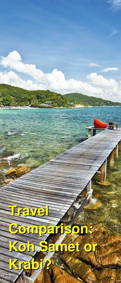 Koh Samet vs. Krabi Travel Comparison