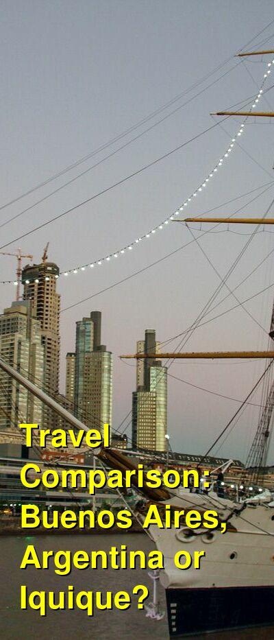 Buenos Aires, Argentina vs. Iquique Travel Comparison
