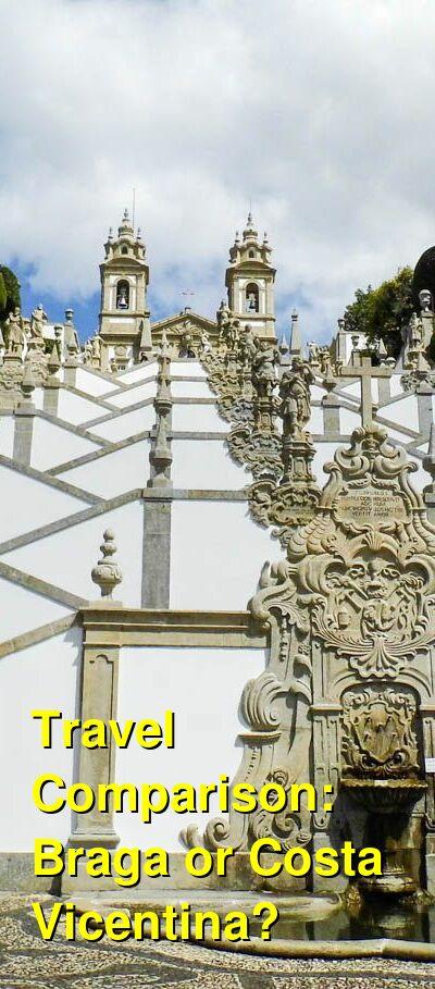 Braga vs. Costa Vicentina Travel Comparison
