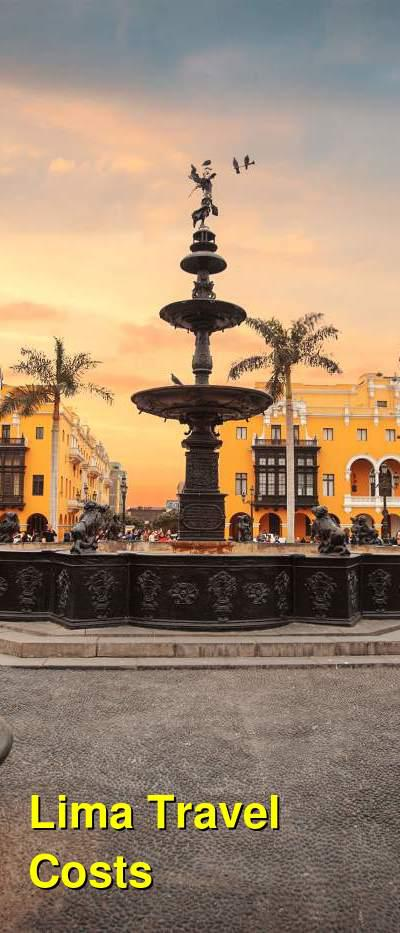 Lima Travel Cost - Average Price of a Vacation to Lima: Food & Meal Budget, Daily & Weekly Expenses | BudgetYourTrip.com