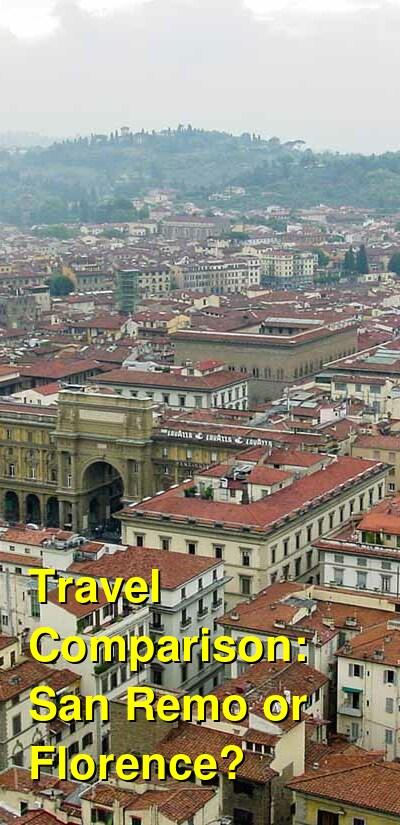 San Remo vs. Florence Travel Comparison