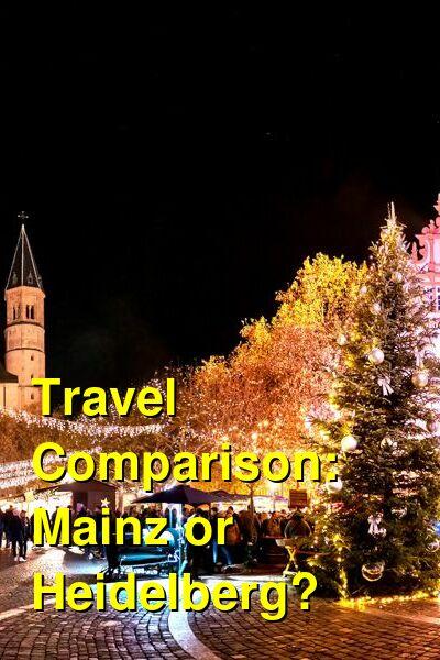 Mainz vs. Heidelberg Travel Comparison