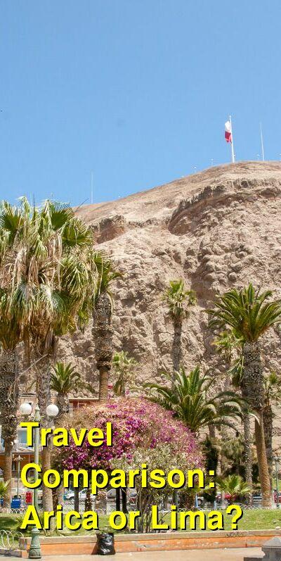 Arica vs. Lima Travel Comparison