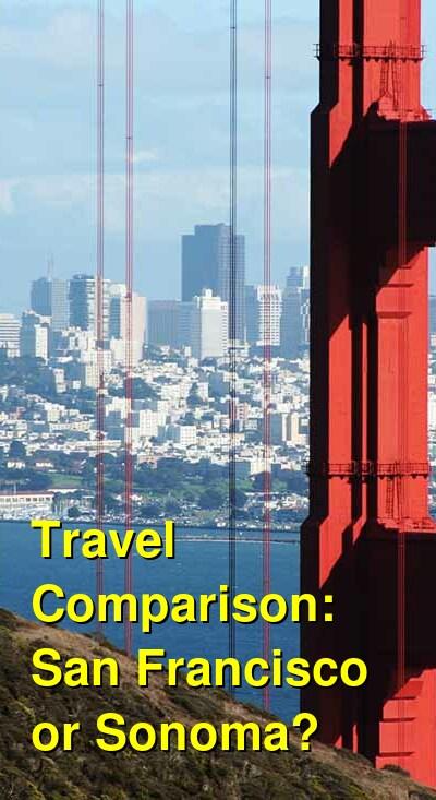 San Francisco vs. Sonoma Travel Comparison