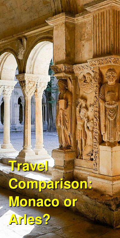 Monaco vs. Arles Travel Comparison
