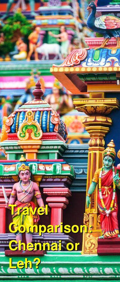 Chennai vs. Leh Travel Comparison