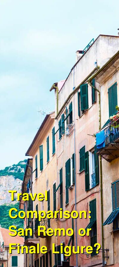 San Remo vs. Finale Ligure Travel Comparison