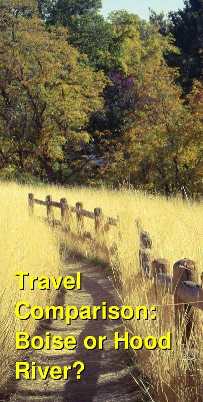 Boise vs. Hood River Travel Comparison