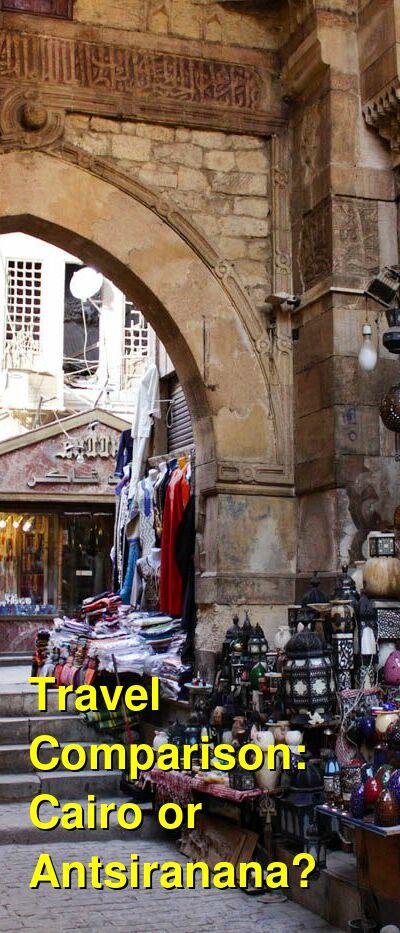 Cairo vs. Antsiranana Travel Comparison