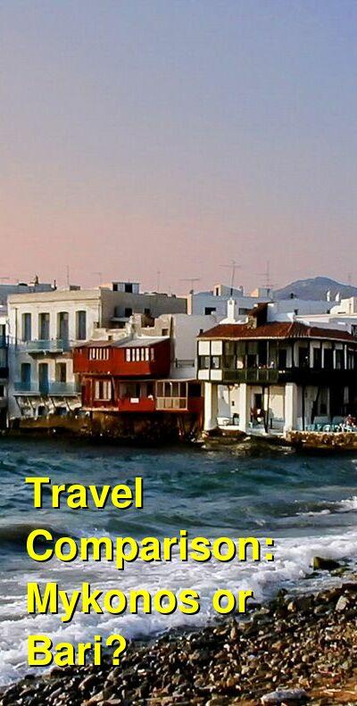 Mykonos vs. Bari Travel Comparison
