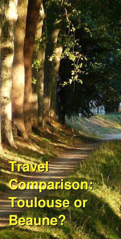 Toulouse vs. Beaune Travel Comparison