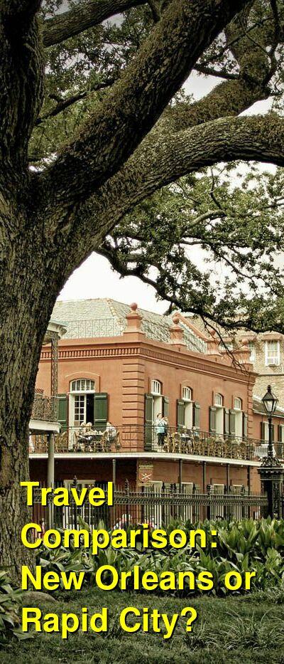 New Orleans vs. Rapid City Travel Comparison