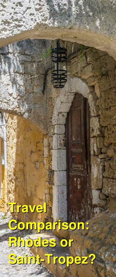 Rhodes vs. Saint-Tropez Travel Comparison
