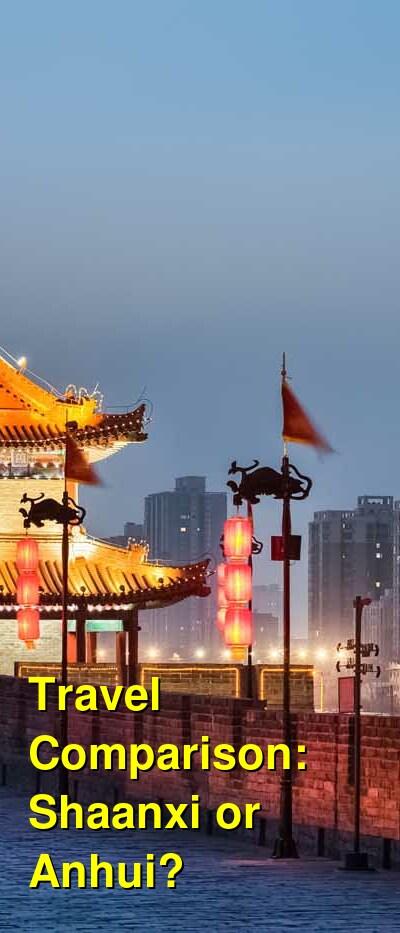 Shaanxi vs. Anhui Travel Comparison