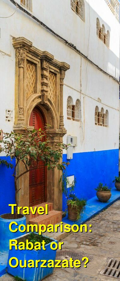Rabat vs. Ouarzazate Travel Comparison