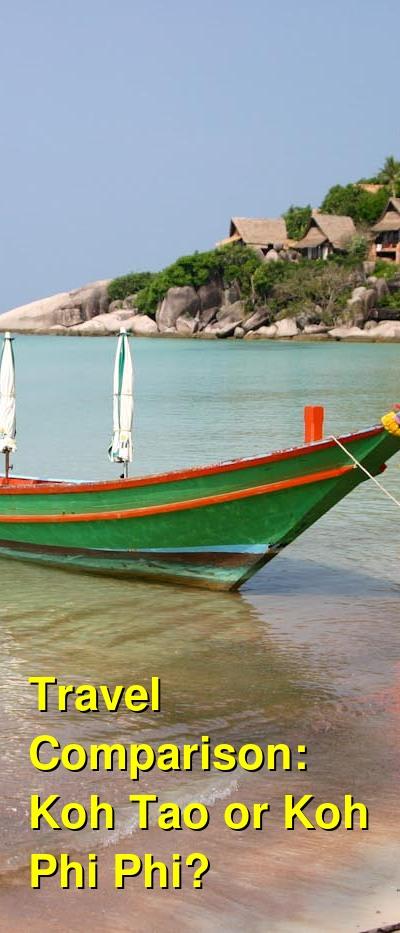 Koh Tao vs. Koh Phi Phi Travel Comparison