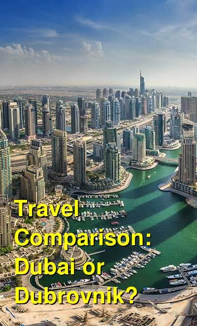 Dubai vs. Dubrovnik Travel Comparison