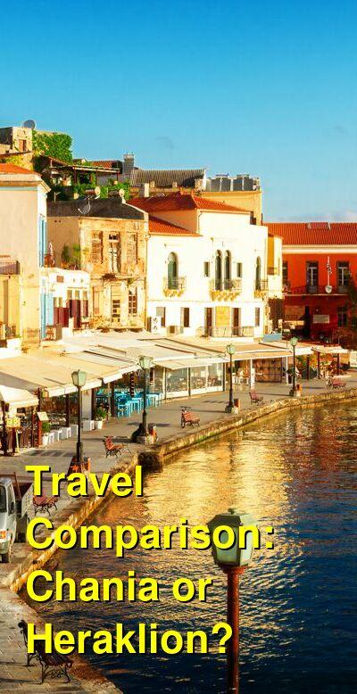 Chania vs. Heraklion Travel Comparison