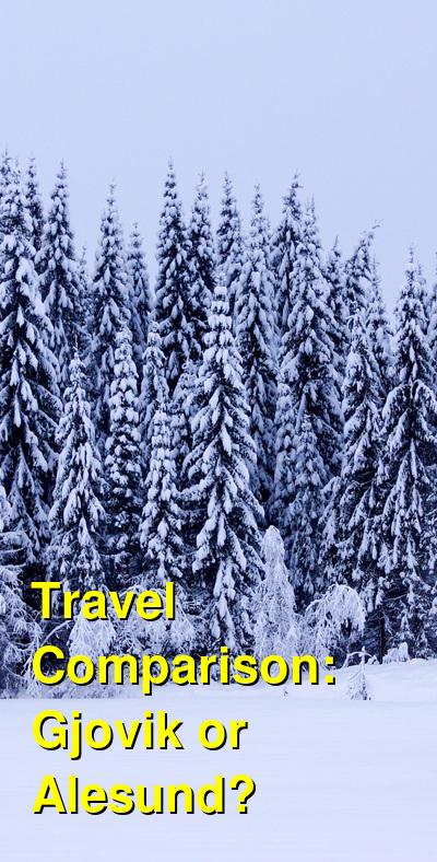 Gjovik vs. Alesund Travel Comparison