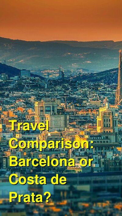Barcelona vs. Costa de Prata Travel Comparison