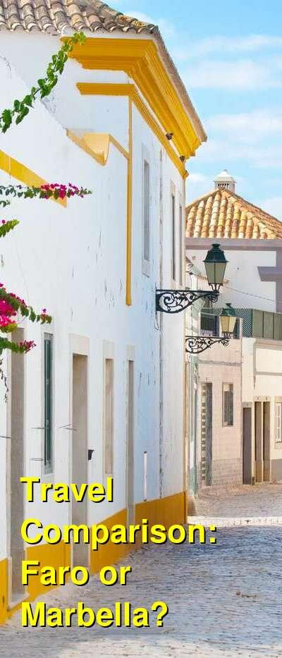 Faro vs. Marbella Travel Comparison