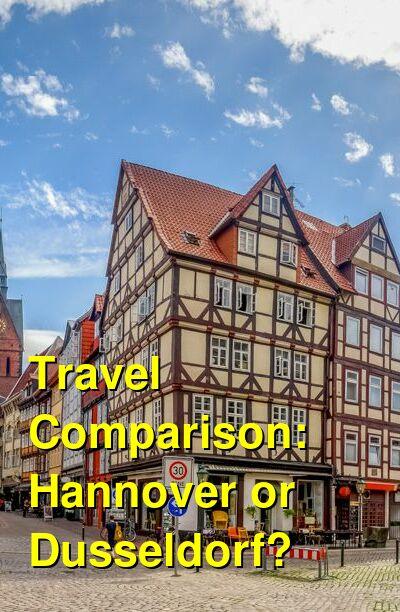 Hannover vs. Dusseldorf Travel Comparison