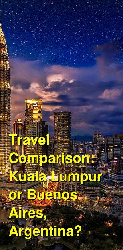 Kuala Lumpur vs. Buenos Aires, Argentina Travel Comparison