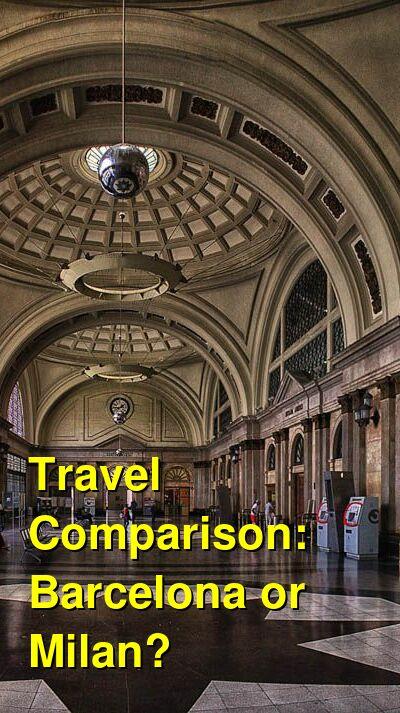 Barcelona vs. Milan Travel Comparison