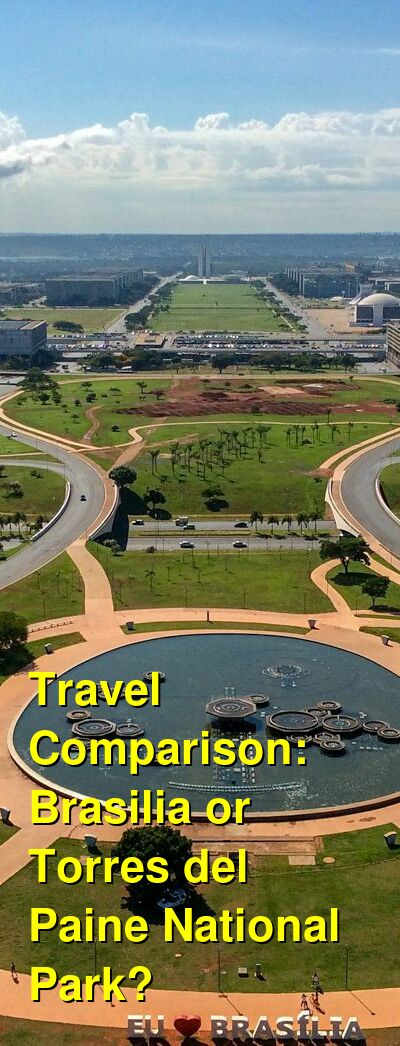 Brasilia vs. Torres del Paine National Park Travel Comparison