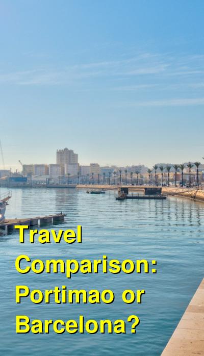 Portimao vs. Barcelona Travel Comparison
