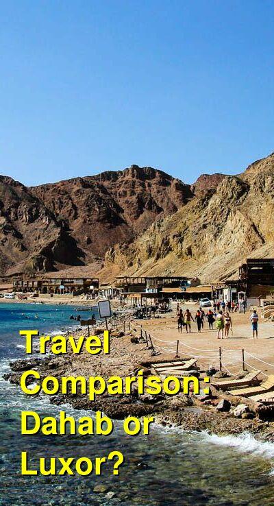 Dahab vs. Luxor Travel Comparison