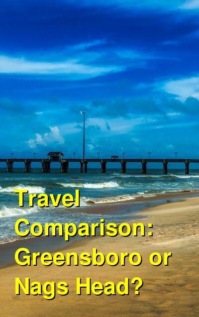 Greensboro vs. Nags Head Travel Comparison