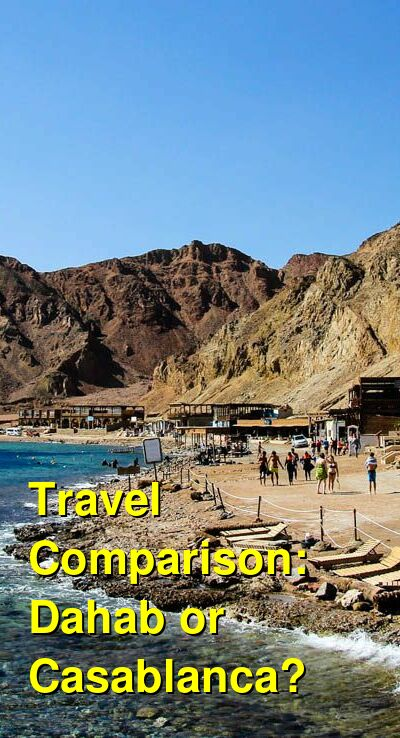 Dahab vs. Casablanca Travel Comparison
