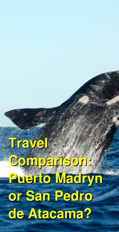 Puerto Madryn vs. San Pedro de Atacama Travel Comparison