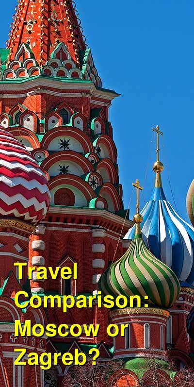 Moscow vs. Zagreb Travel Comparison