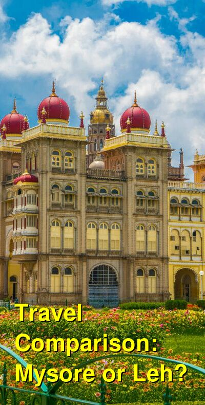 Mysore vs. Leh Travel Comparison