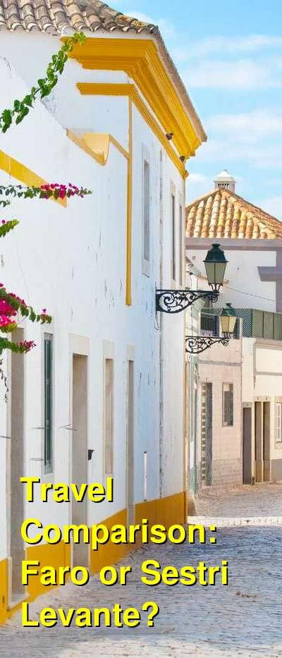 Faro vs. Sestri Levante Travel Comparison