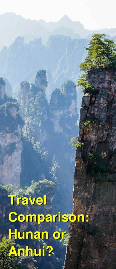 Hunan vs. Anhui Travel Comparison