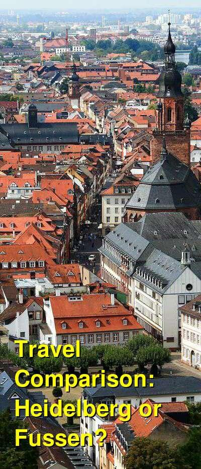 Heidelberg vs. Fussen Travel Comparison